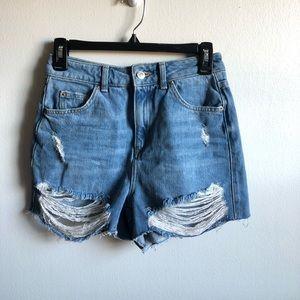 topshop highwaisted mom shorts